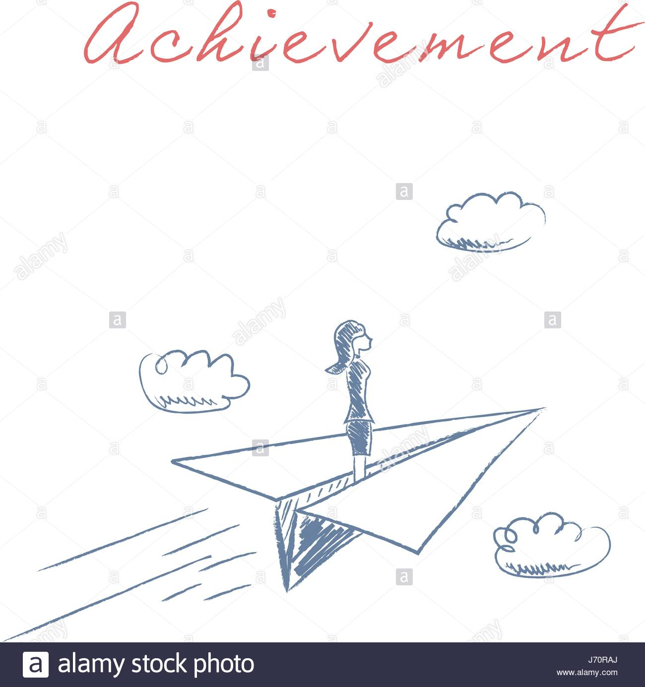 1300x1385 Businesswoman Flying On Paper Plane Vector. Symbol Of Business
