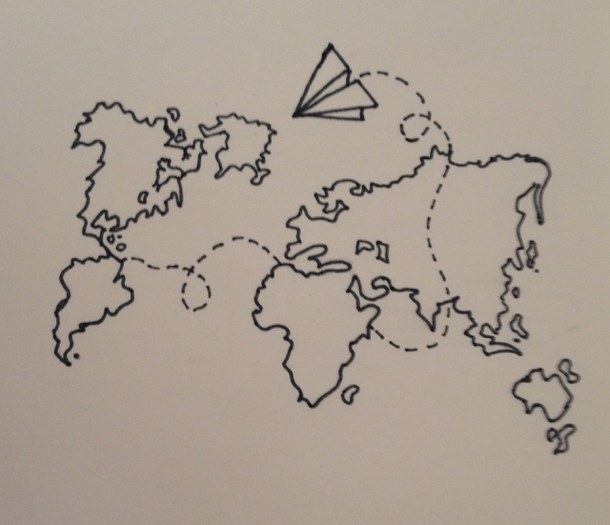 610x525 Art, Draw, Drawing, Drawings, Fly, Flying, Paper Planes, Plane