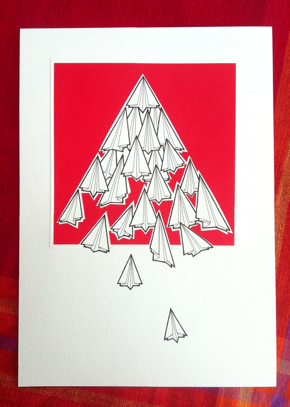 570x800 Paper Plane Illustration Fleet Hand Drawn Paper By Lightboxing