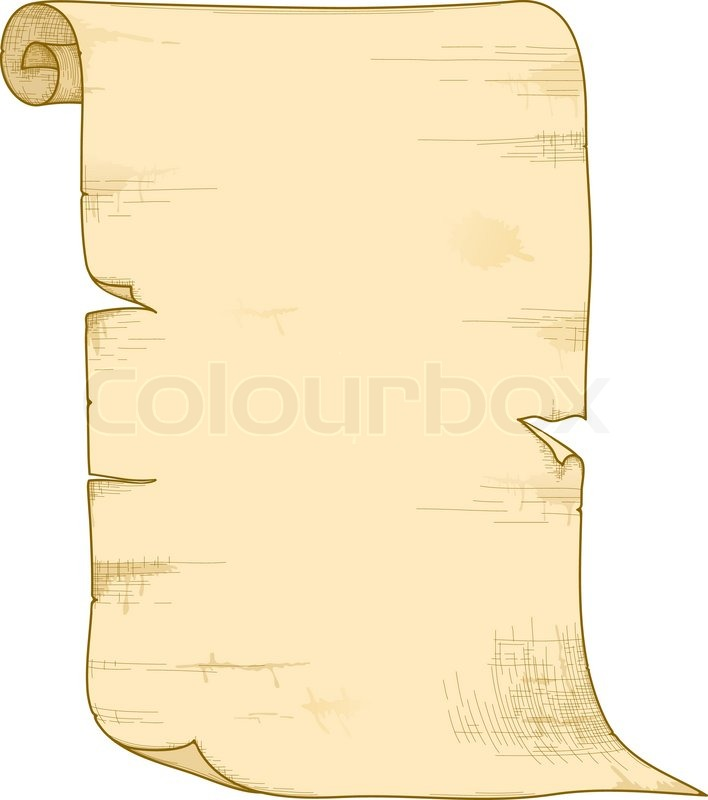 708x800 Vector Old Paper Roll Stock Vector Colourbox