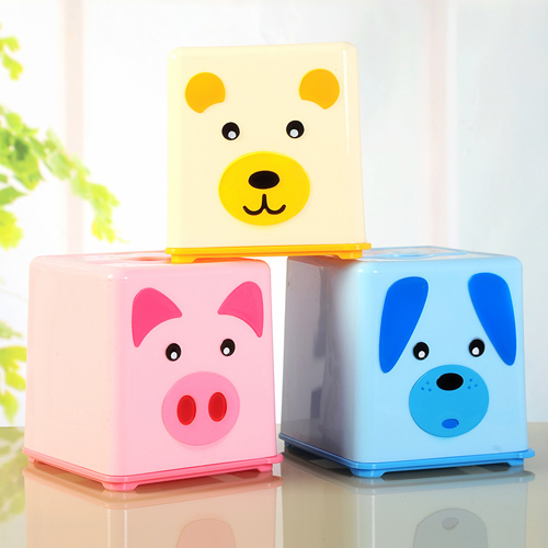 500x500 Hs040 Square Cartoon Drawing Paper Towel Tube Tissue Box 13.513.5