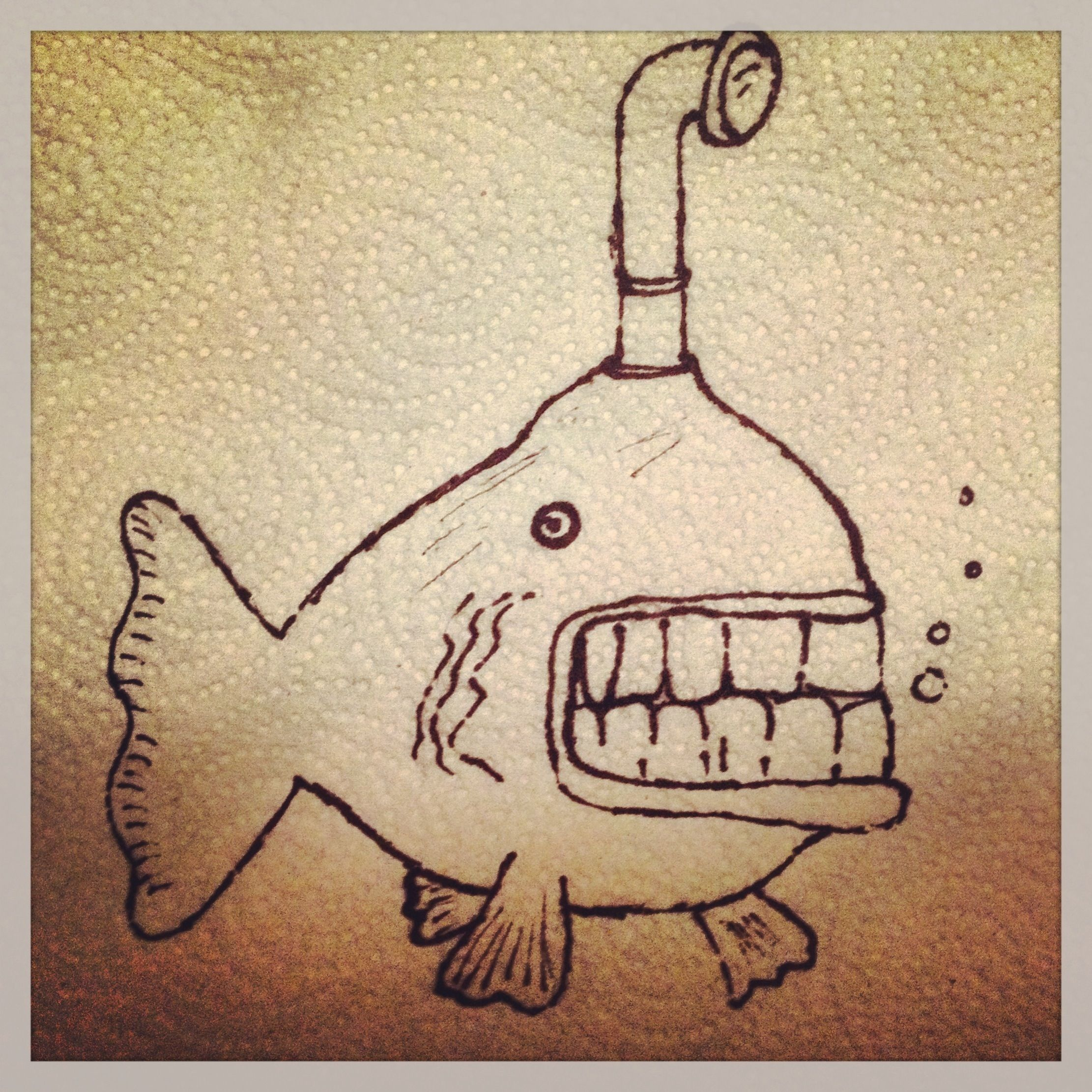 2222x2222 Fish Drawing Paper Towel Lunch Art Lunch Box Funnies