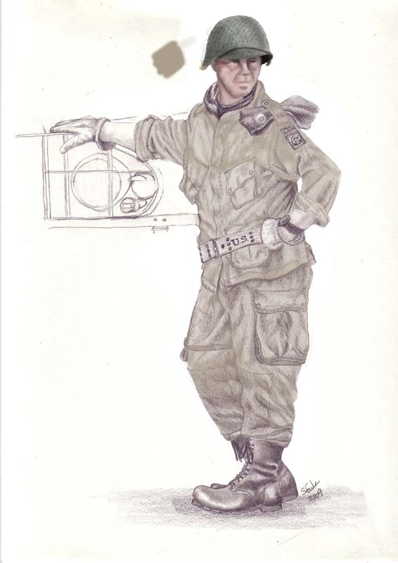 566x800 Digital Painting Of Us 82nd Airborne Trooper Art On The Hoof