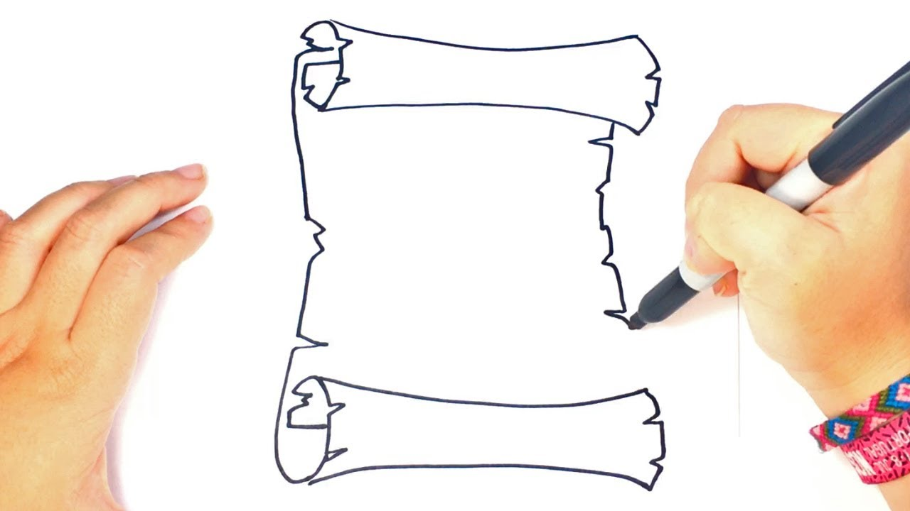 1280x720 How To Draw A Parchment Step By Step Parchment Drawing Lesson