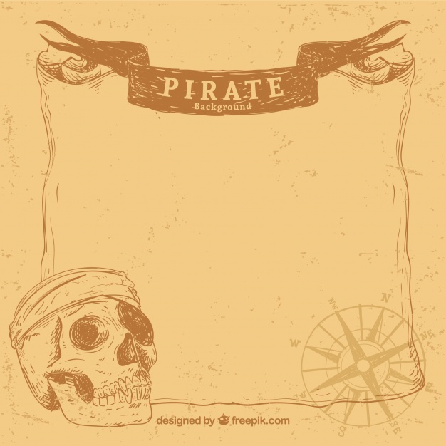 626x626 Vintage Background With Hand Drawn Parchment And Skull Vector
