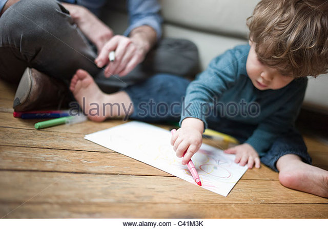 640x447 Kids Preschool Two Children Drawing Stock Photos Amp Kids Preschool