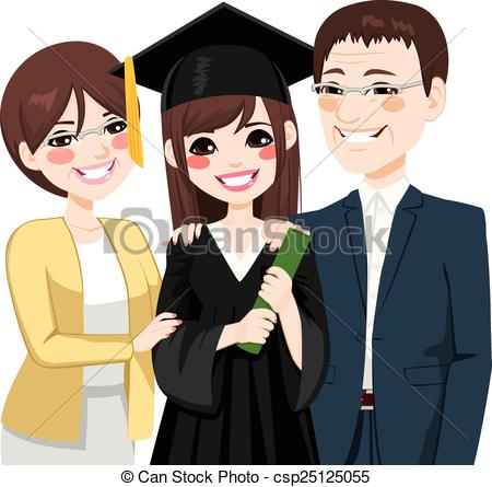 450x445 Asian Parents Proud Of Daughter. Asian Parents Standing Clipart