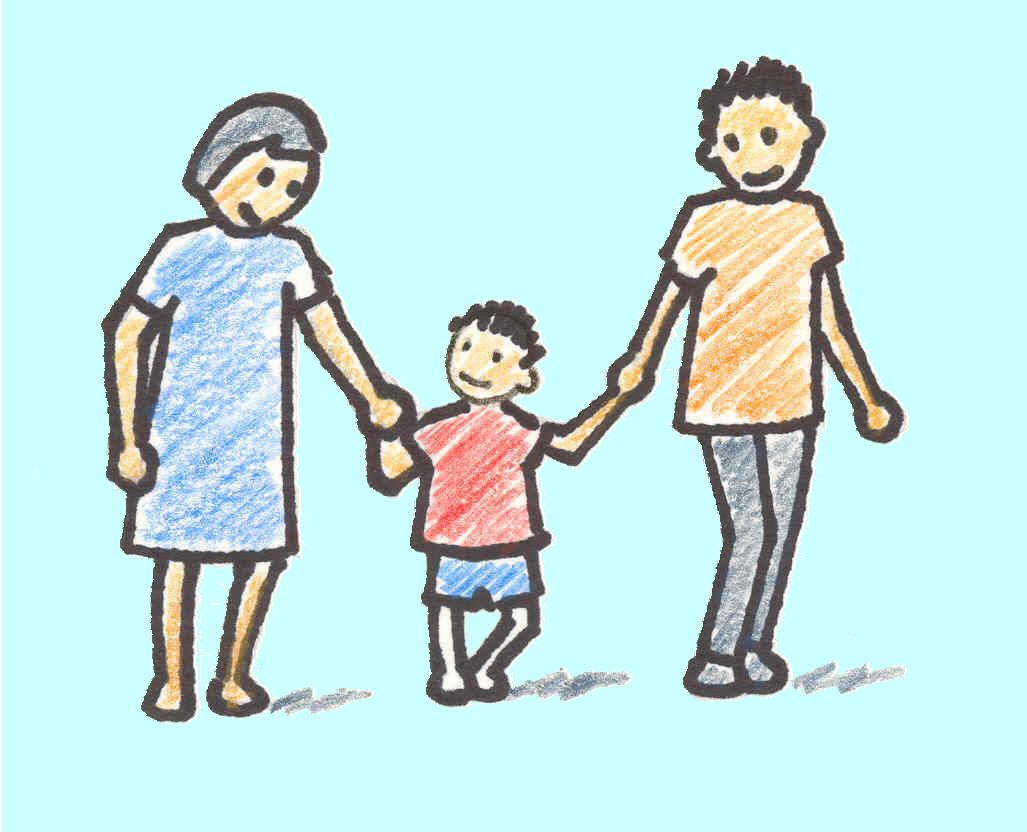 1027x832 Beautiful Sketch Drawing Family Parents Picture