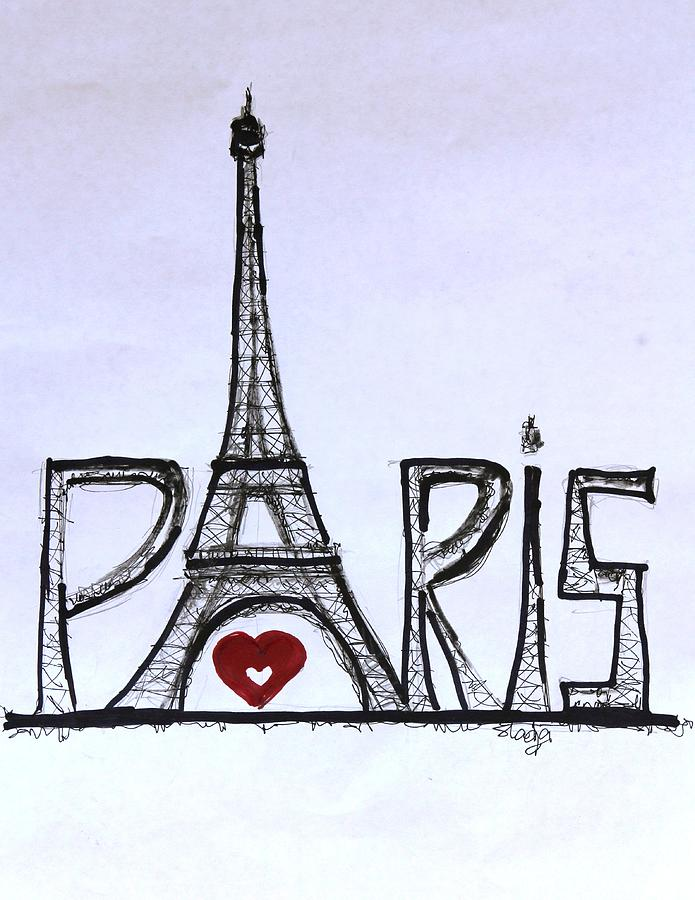 695x900 I Love Paris Digital Art By Sladjana Lazarevic