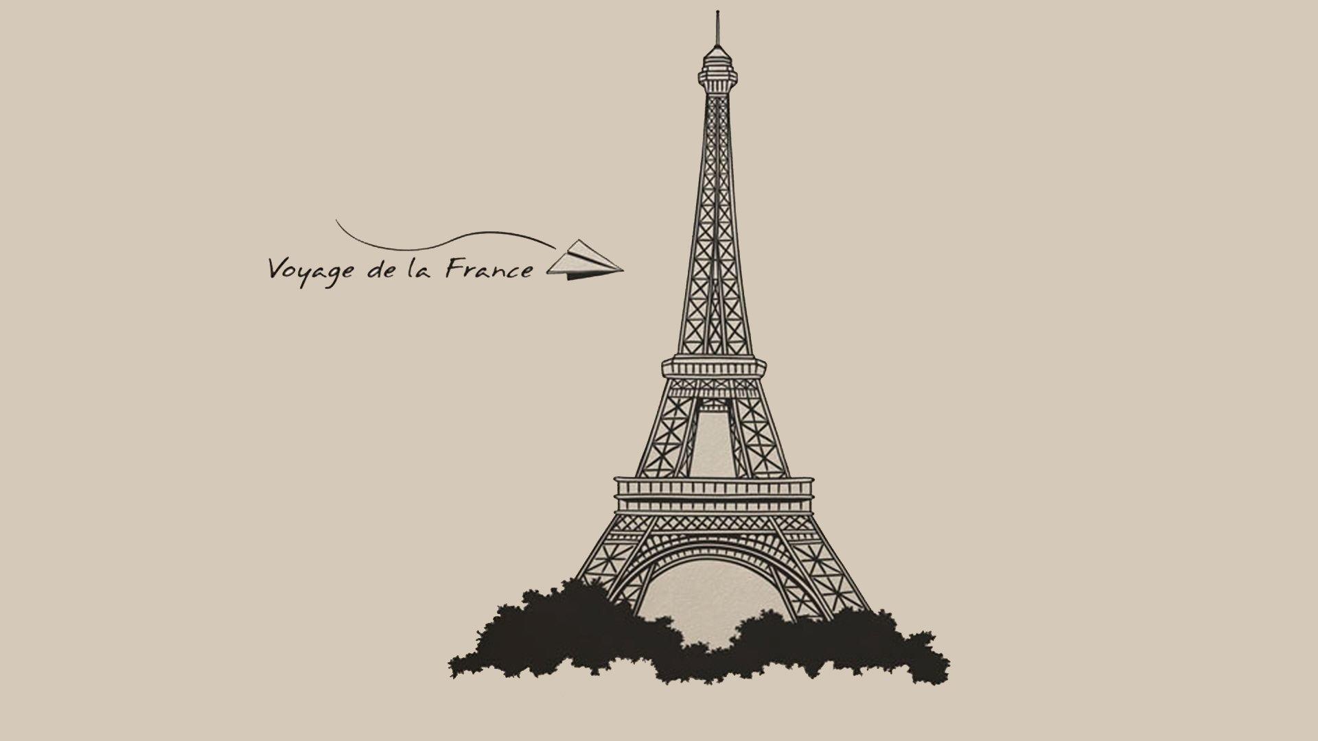 1920x1080 Paris Eiffel Tower Drawing Eiffel Tower Drawing Wallpapers