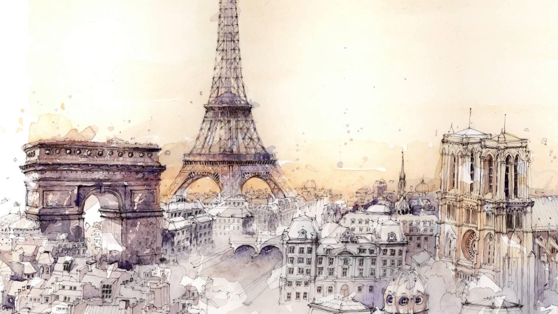 Download Wallpaper City Sketch