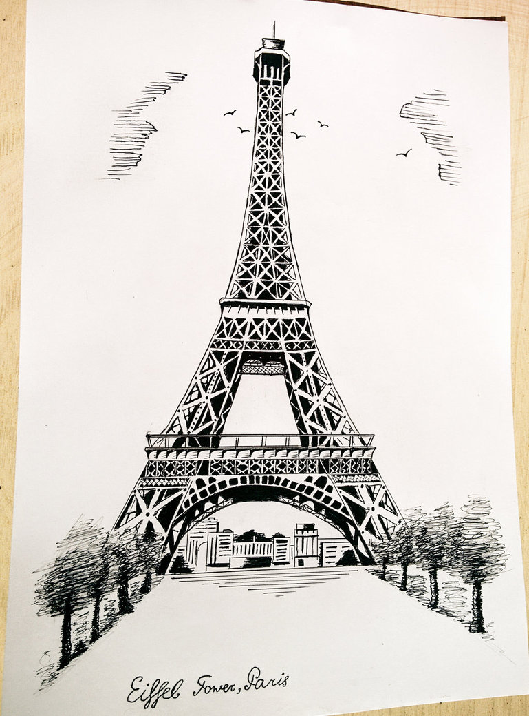 Paris eiffel tower drawing at getdrawings free for personal 769x1039 eiffel tower paris by martynes9n on deviantart thecheapjerseys Gallery