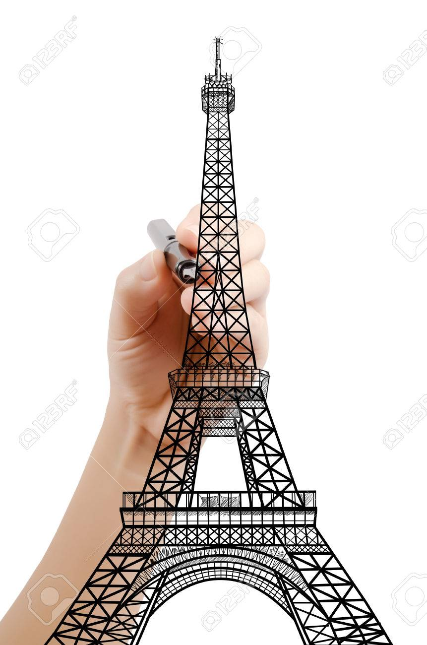 Paris eiffel tower drawing at getdrawings free for personal 861x1300 hand drawing eiffel tower line in paris for construction stock thecheapjerseys Gallery