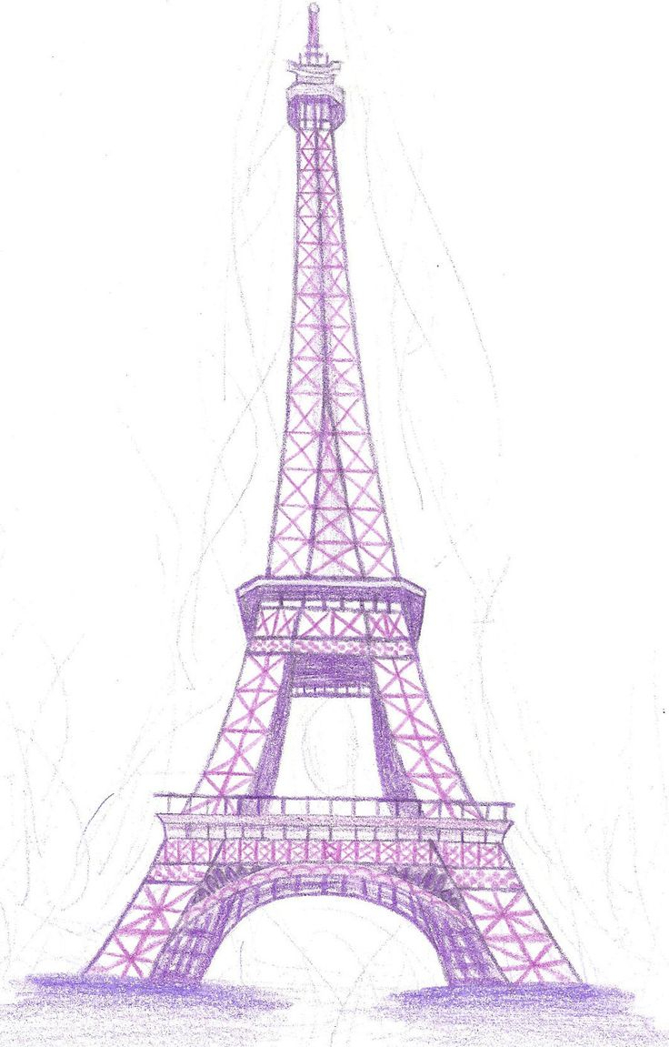 736x1151 Eiffel Tower Cartoon Drawing How To Draw Eiffel Tower