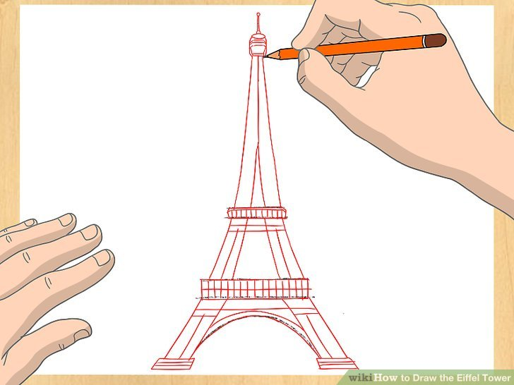 728x546 How To Draw The Eiffel Tower 14 Steps (With Pictures)
