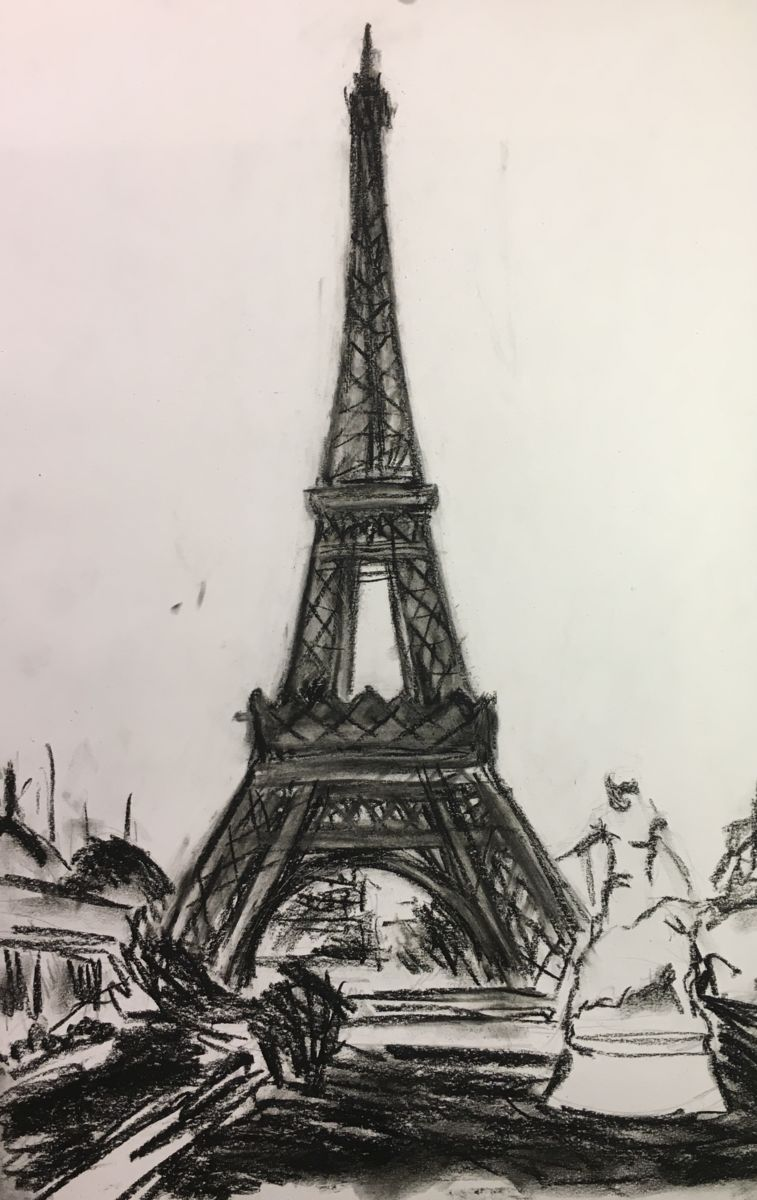 757x1200 Eiffel Tower Charcoal Drawing Paris.jpg (Vsevolod Chistiakov)