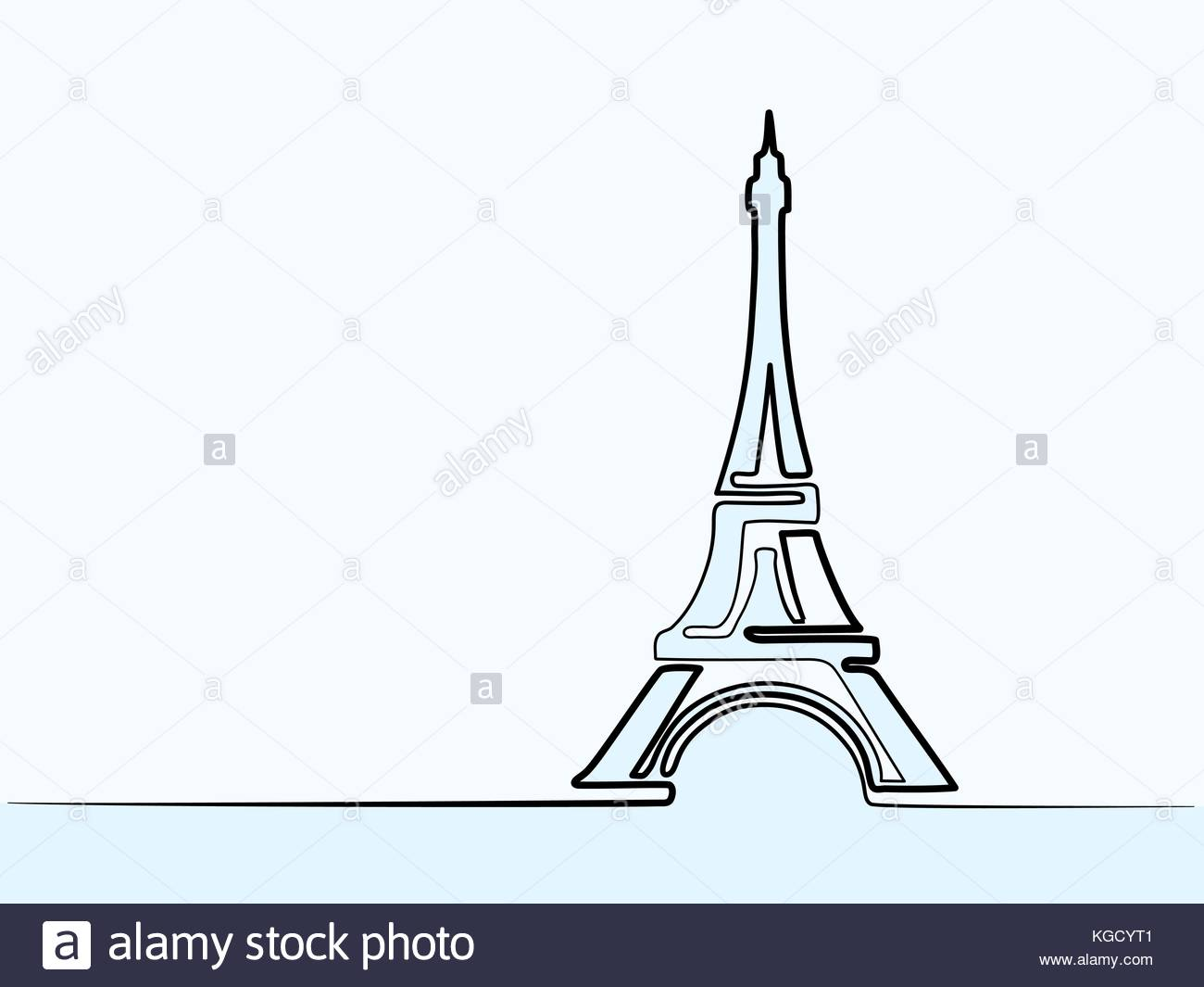 1300x1065 Paris Eiffel Tower Icon Thin Continuous Line Drawing For Web