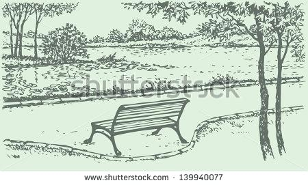 450x271 Park Bench Drawing