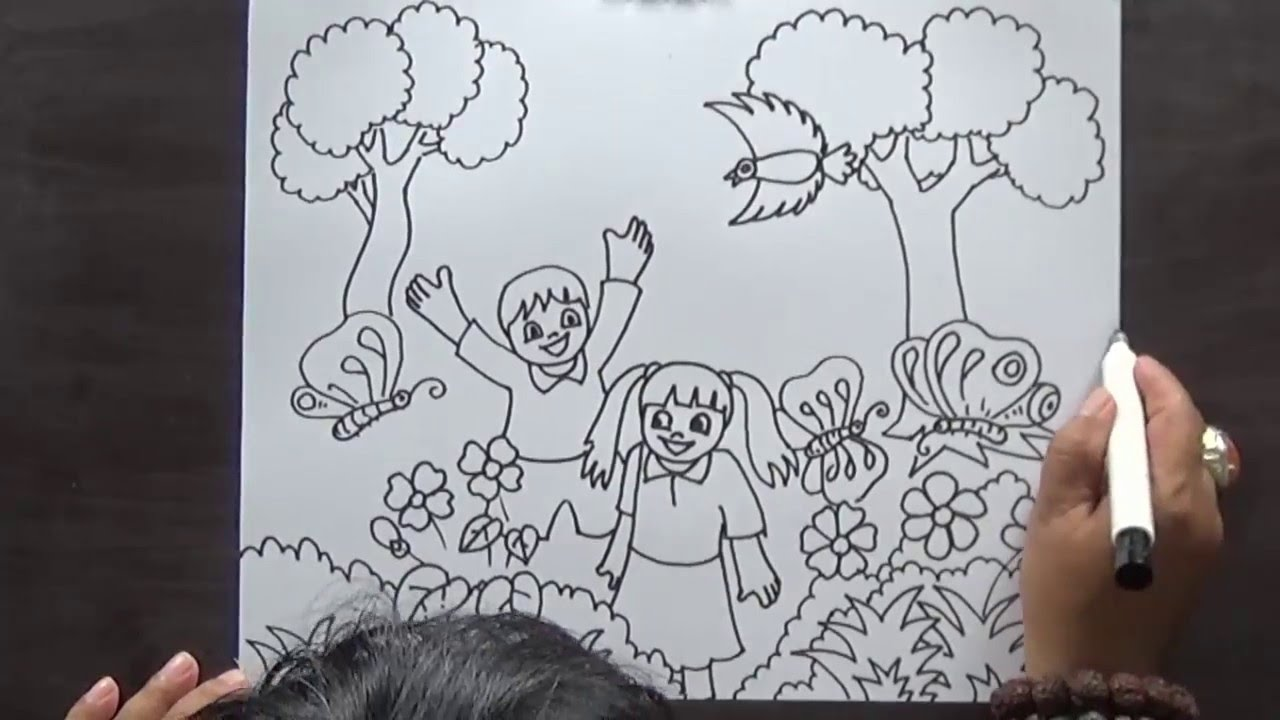 1280x720 How To Drawing Sketch For Kid