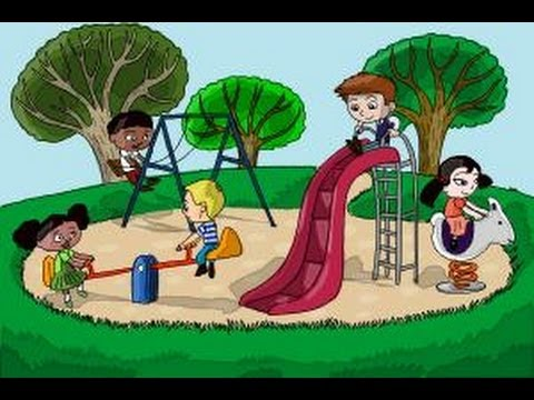 480x360 How To Draw Kids Playing In A Playground