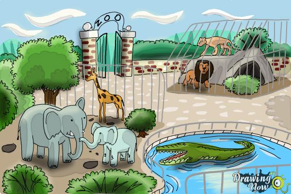 600x400 How To Draw A Zoo