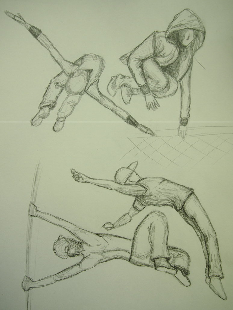 774x1032 Parkour Sketches By Wolfdraw101