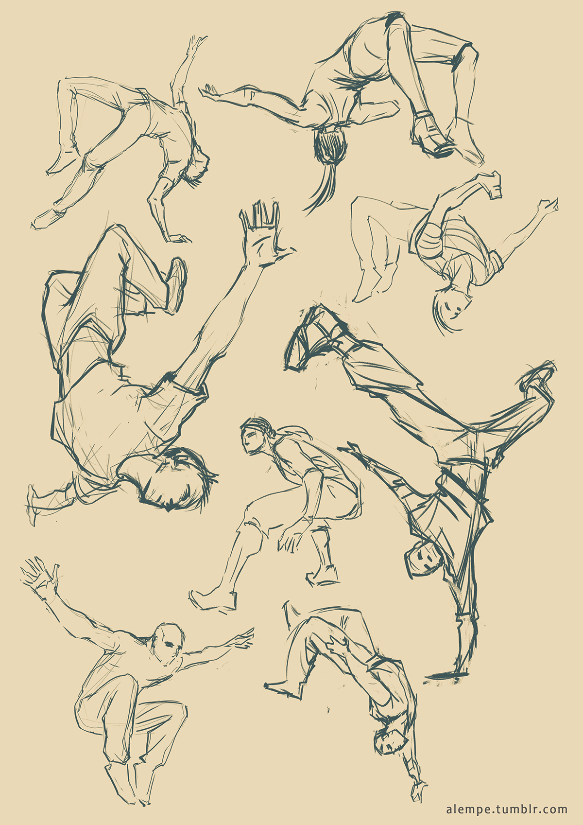 1200x1697 Parkour Poses, Reference Used