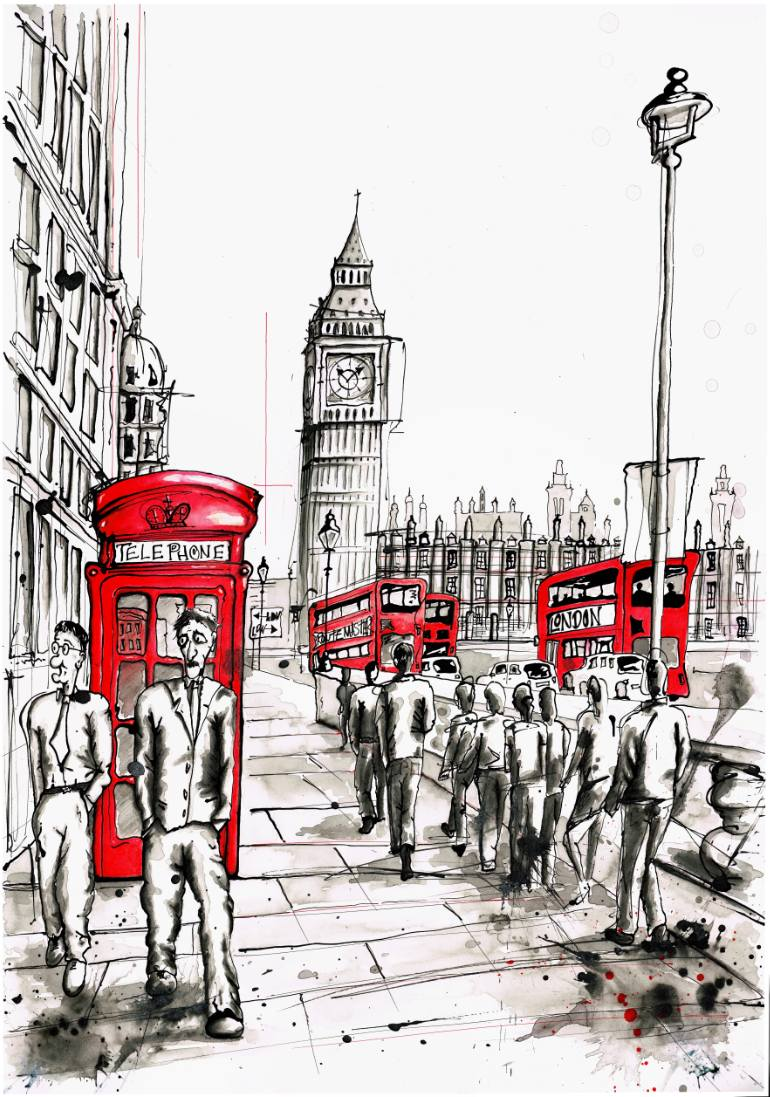 770x1097 Saatchi Art Parliament Square Drawing By Keith Mcbride