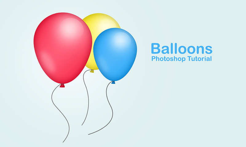 800x480 Create Party Balloons In Photoshop