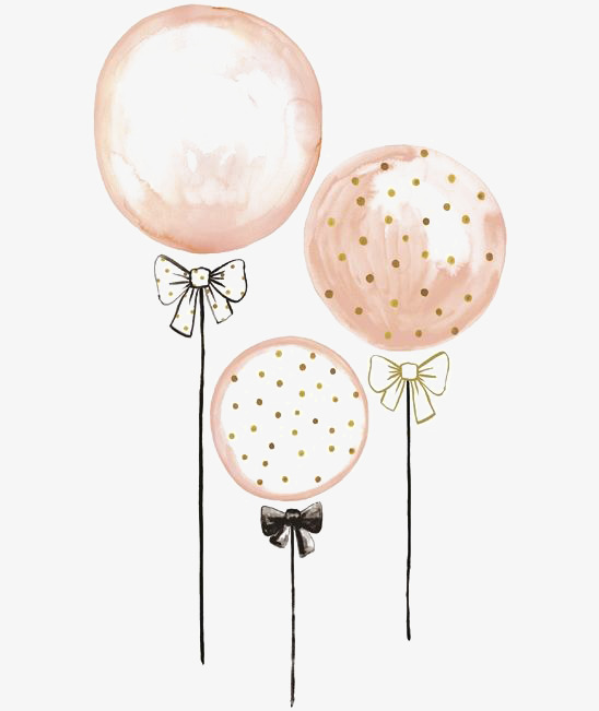 548x651 Drawing Balloons, Pink Balloons, Free Balloon Buckle Elements