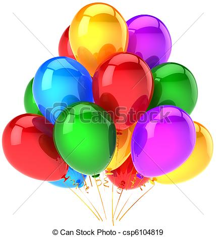 428x470 Multicolor Party Balloons Bunch. Party Balloons Shiny Stock