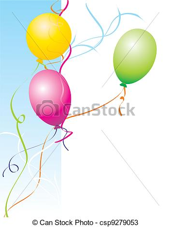 354x470 Party Balloons Drawings