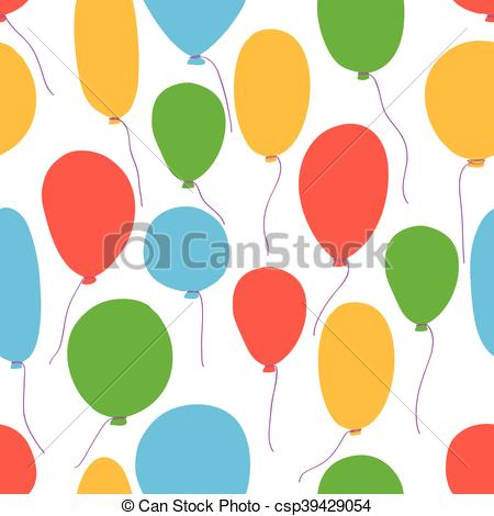 450x470 Vector Party Baloons Pattern2. Vector Party Balloons Clipart