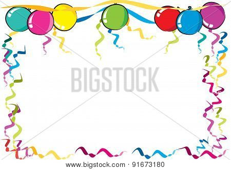 450x333 Vector Drawing Party Balloons Border Poster Id91673180
