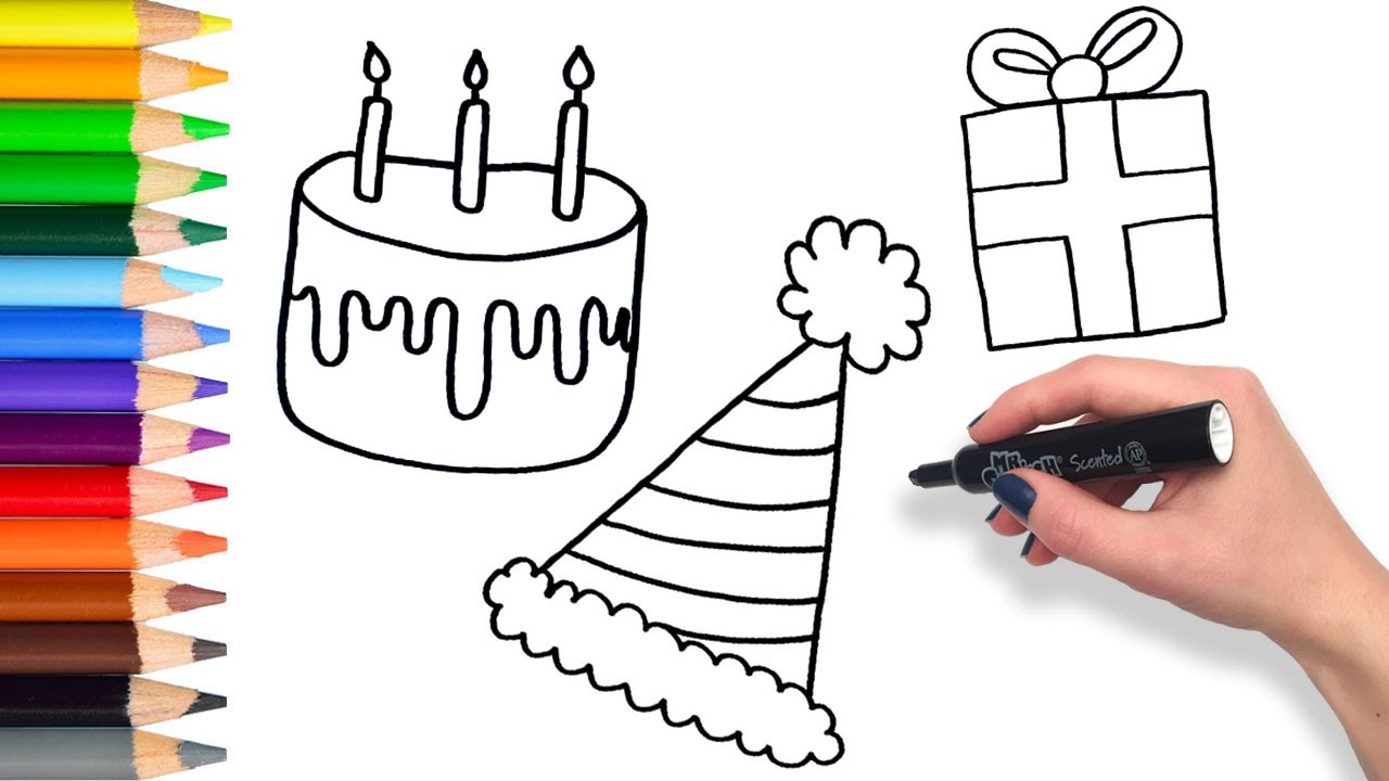 1280x720 Learn To Draw A Party Compilation Teach Drawing For Kids