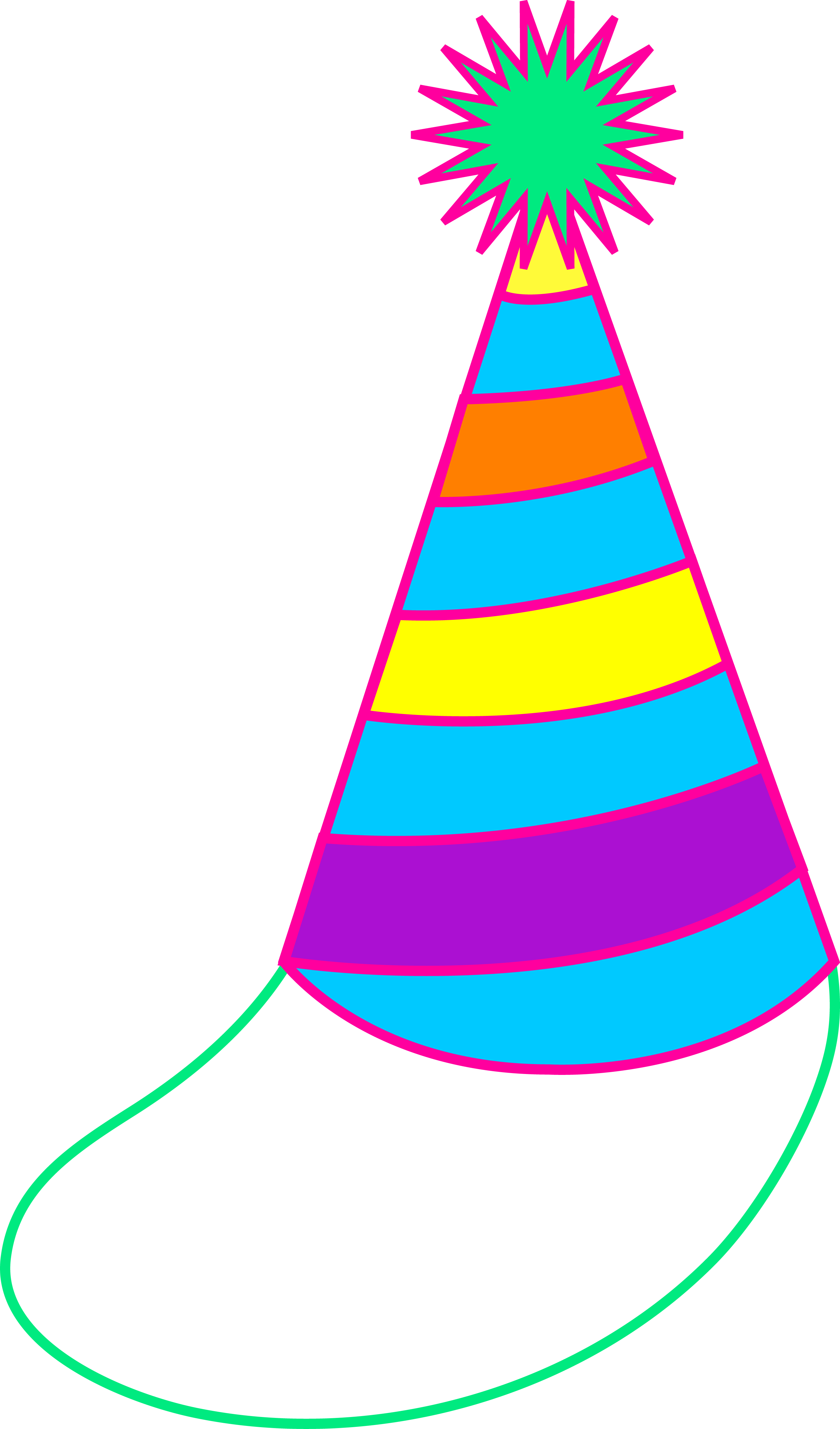 2729x4641 Colorful Party Hat