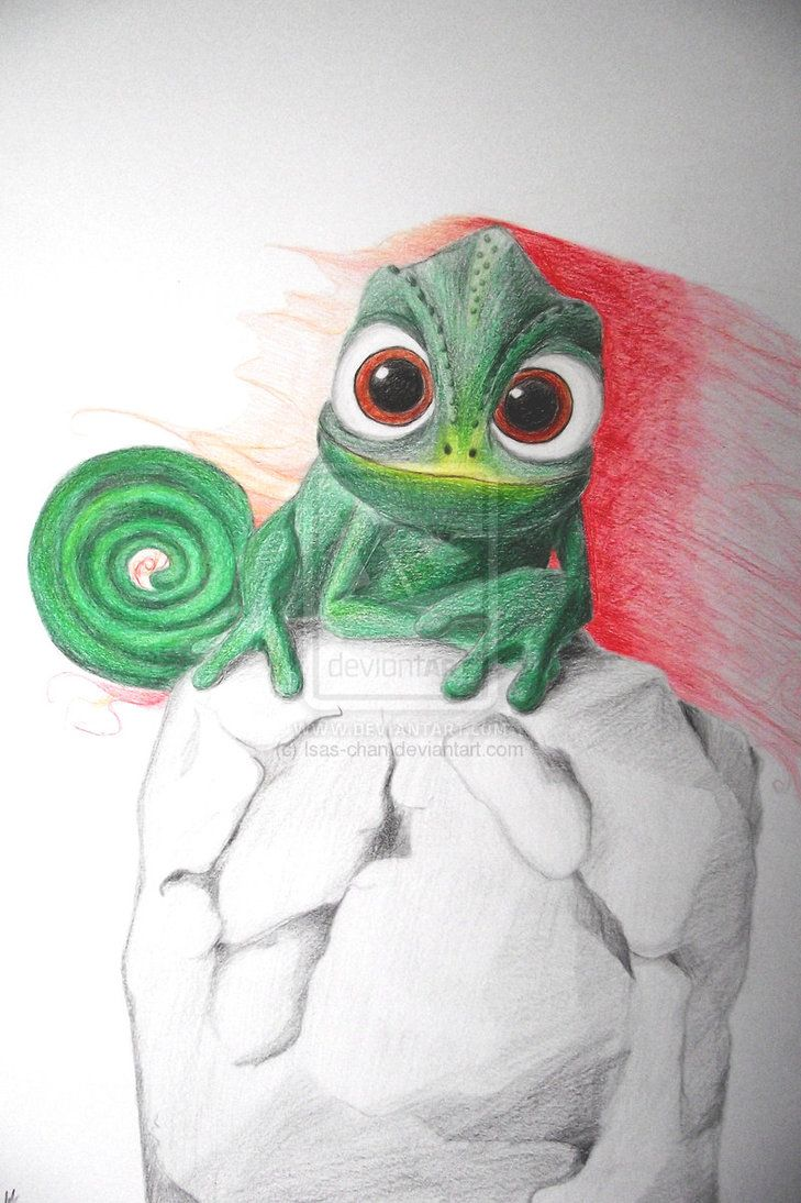 729x1094 Pascal Tangled By ~isas Chan Amazing Drawing Cartoon Characters