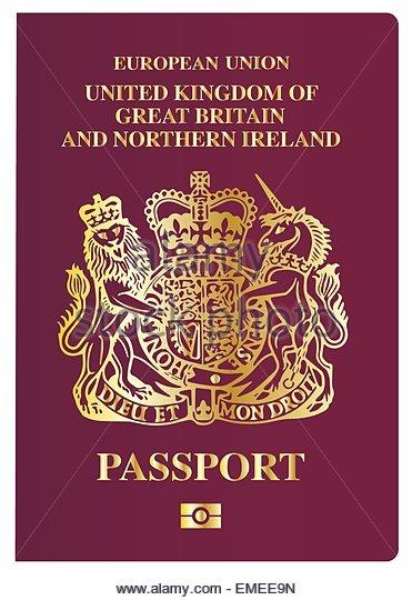 371x540 Passport Uk Stock Vector Images