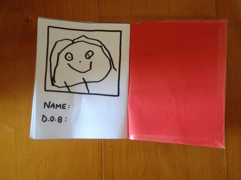 800x600 Play Passport, Childs Drawing Passport, Preschooler Make Believe