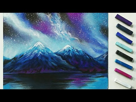 480x360 How To Draw Galaxy With Soft Pastels Soft Pastel Drawing Art