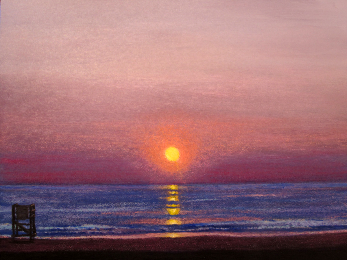Painting My World: Lowcountry Sunset 2.5 x 3.5 pastel ... |Pastel Drawings Of Sunsets