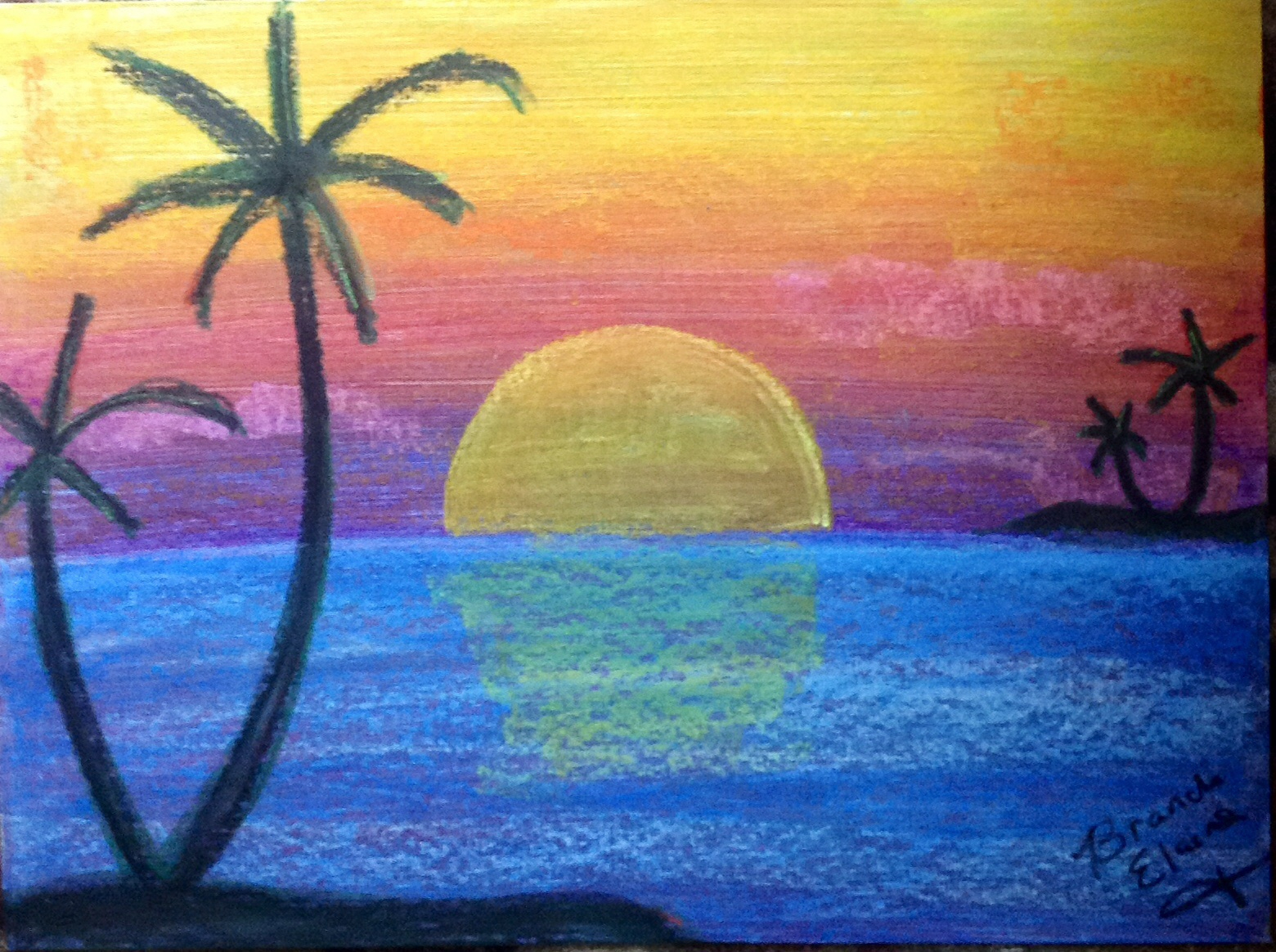 Techniques for Blending With Oil Pastels | Oil pastel art ... |Pastel Drawings Of Sunsets
