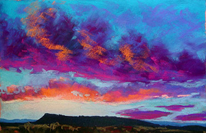 300x194 Online Pastel Demo Painting A Sunset