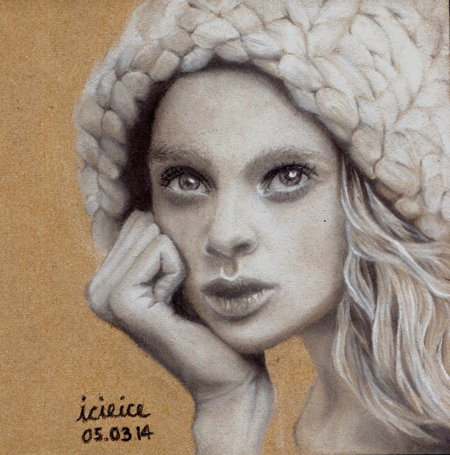 889x899 Holly Rose Emery Pastel Pencil Drawing By Icieice