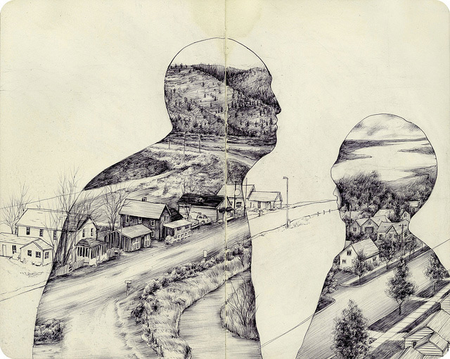 640x510 The Natural And Urban Collide In The Drawings Of Pat Perry Colossal