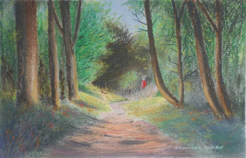 500x321 How To Draw Woodland Path In Pastel Online Art Lessons