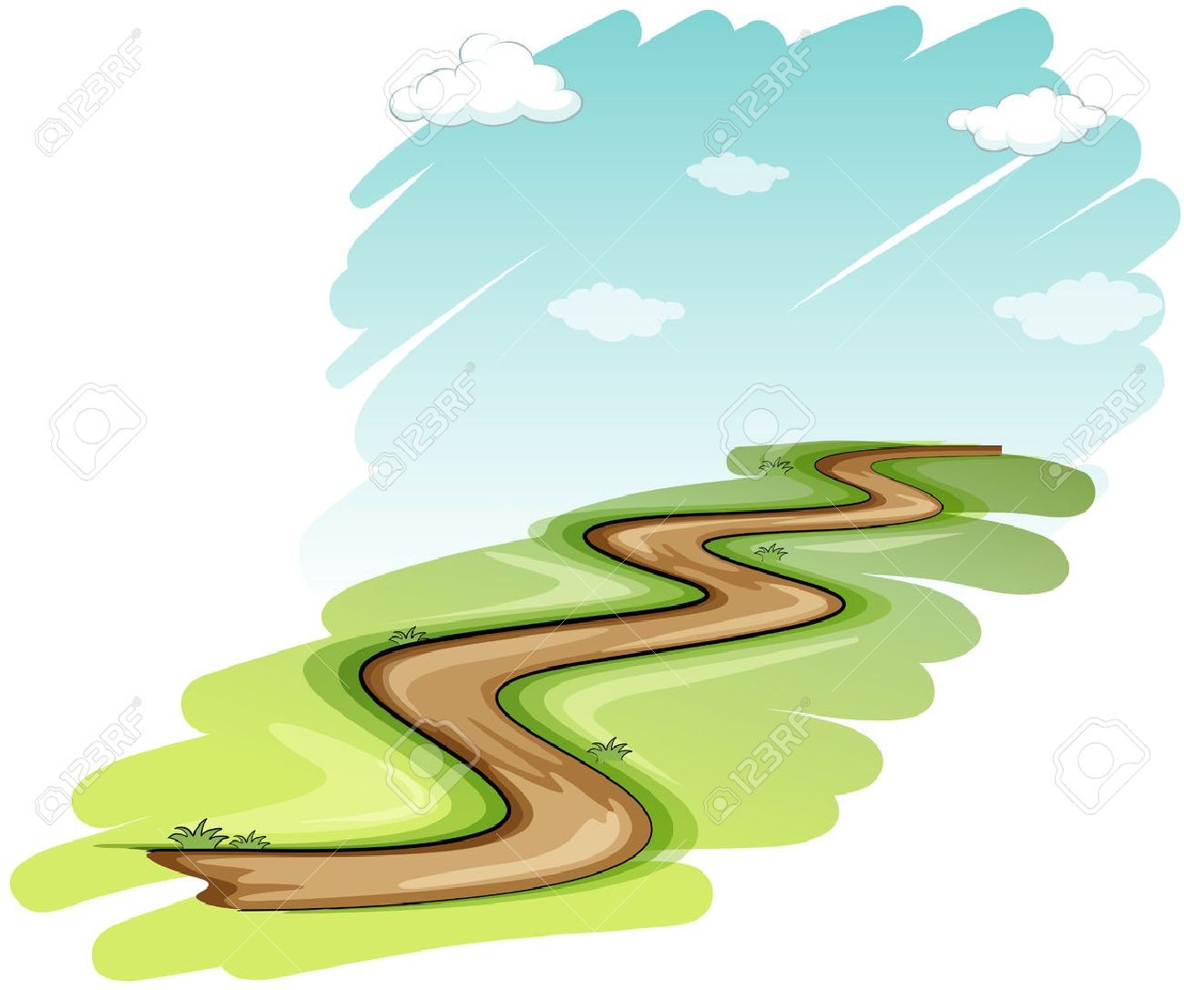 1300x1087 3,994 Pathway Drawing Stock Vector Illustration And Royalty Free