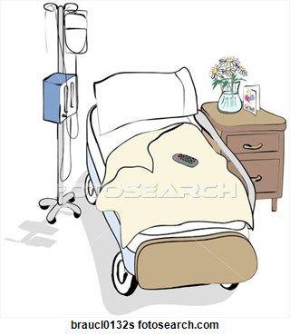 320x370 Hospital Patient Clip Art