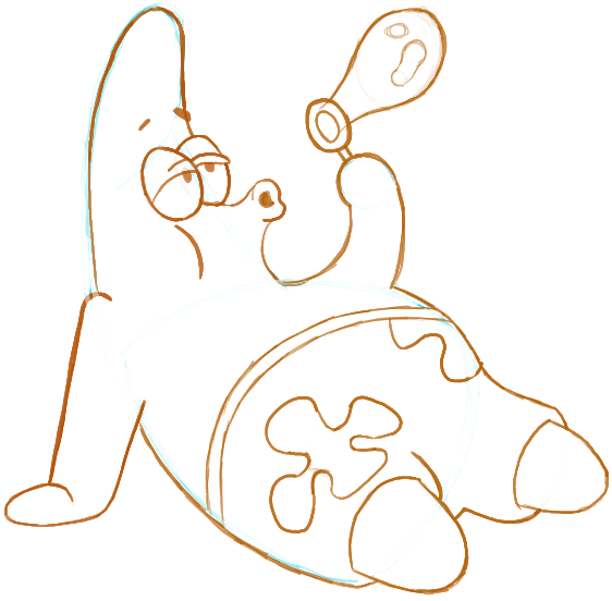 562x552 How To Draw Patrick Star Blowing Bubbles