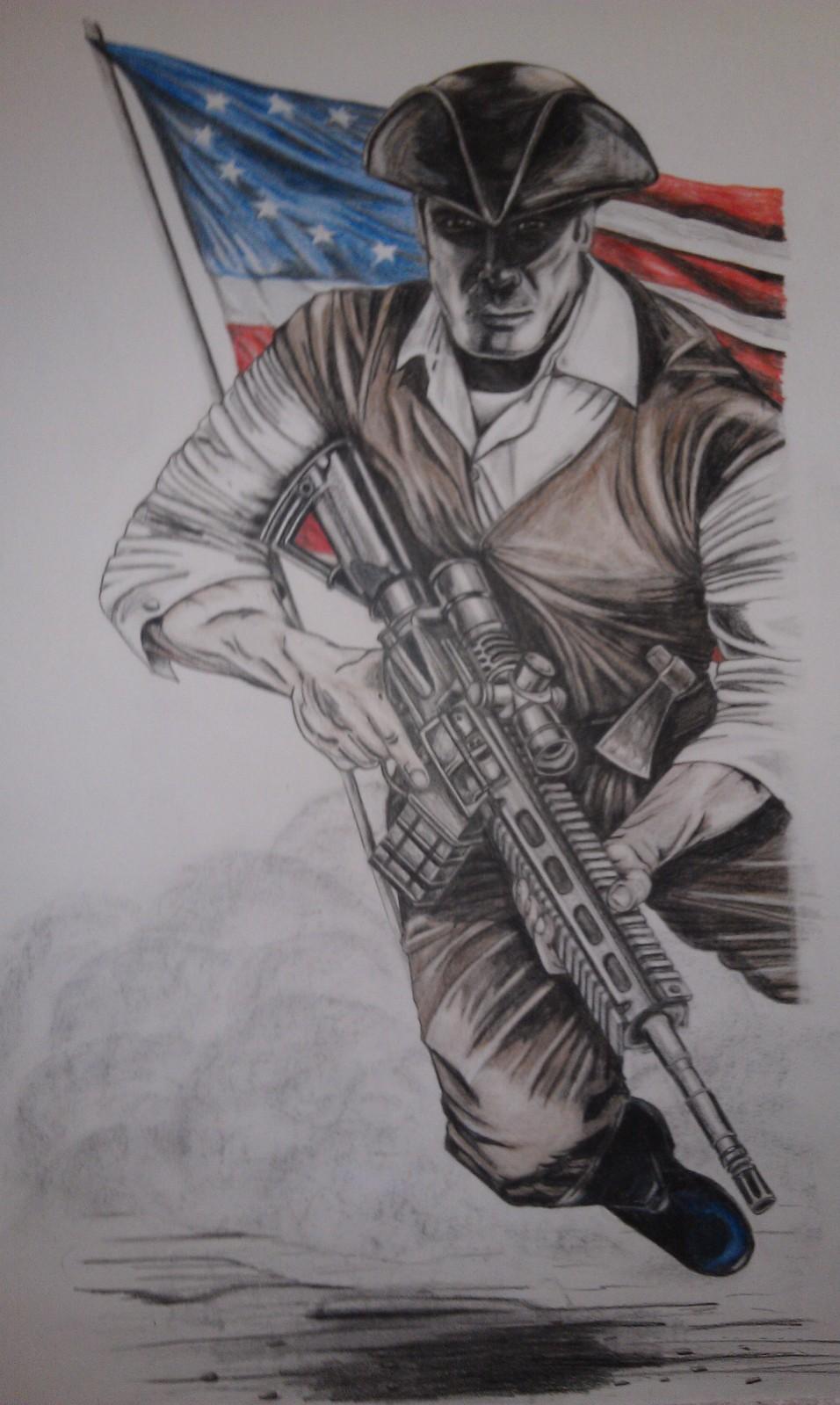 956x1599 Patriot Drawing